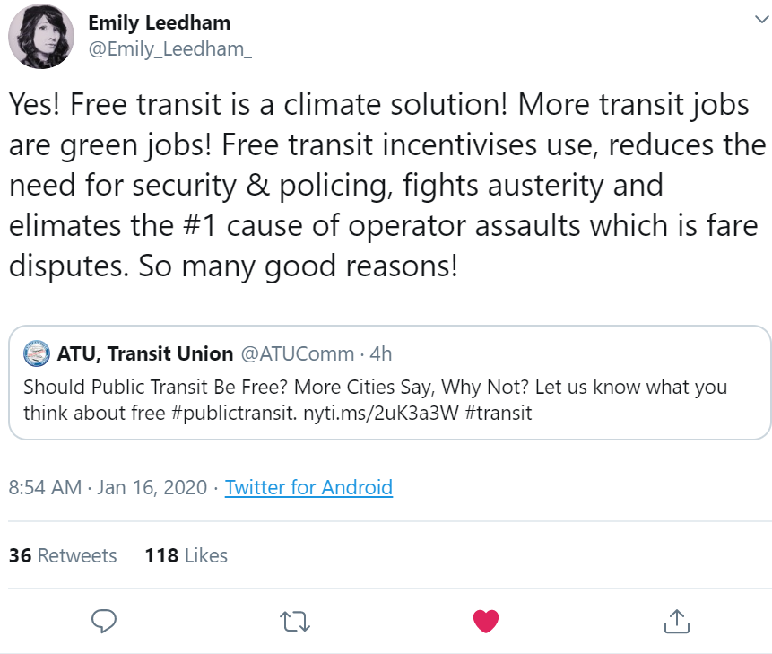 Screenshot of Emily Leedham's tweet